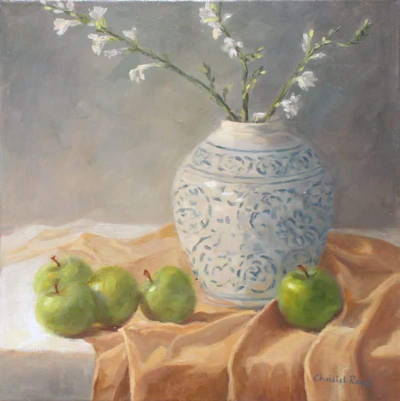 Chinese Vase & Apples