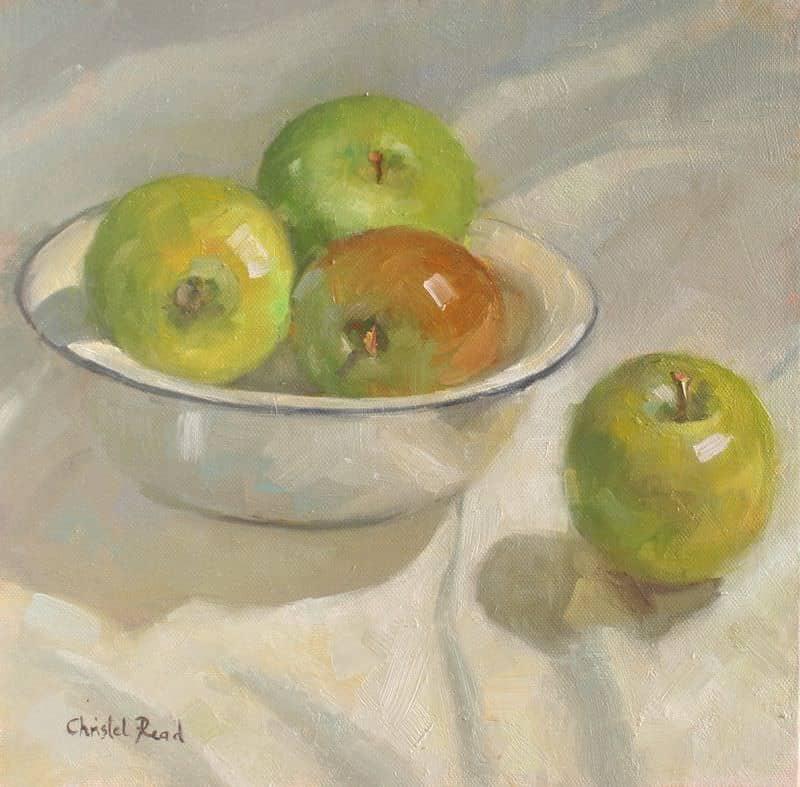 Green Apples In Enamel