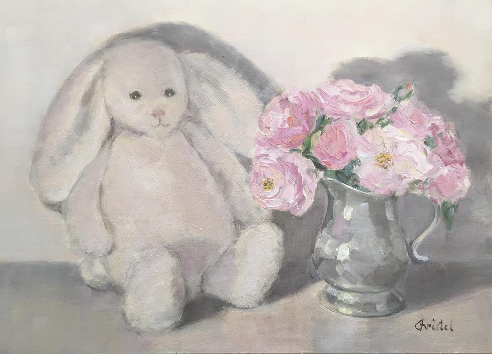 White nursery bunny